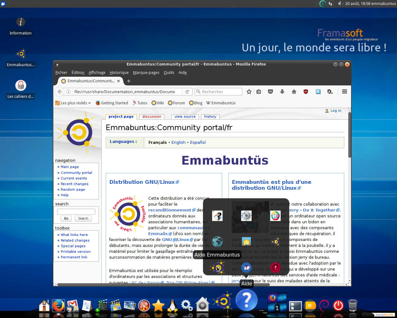 Dcouvrir emmabunts debian edition - Debian bureau a distance ...